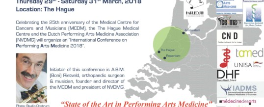 Call for Abstracts > International Conference on Performing Arts Medicine (ICPAM2018)