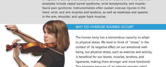 Preventing Overuse Injuries in Instrumentalists